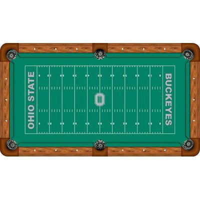 Wave 7 Ncaa Football Field Recreational Billiard Table Felt