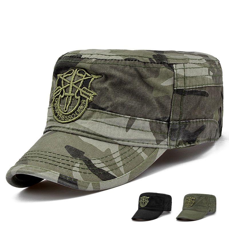 Men Women Camo Cadet Baseball Cap Snapback Military Army Sports Flat Hat Summer