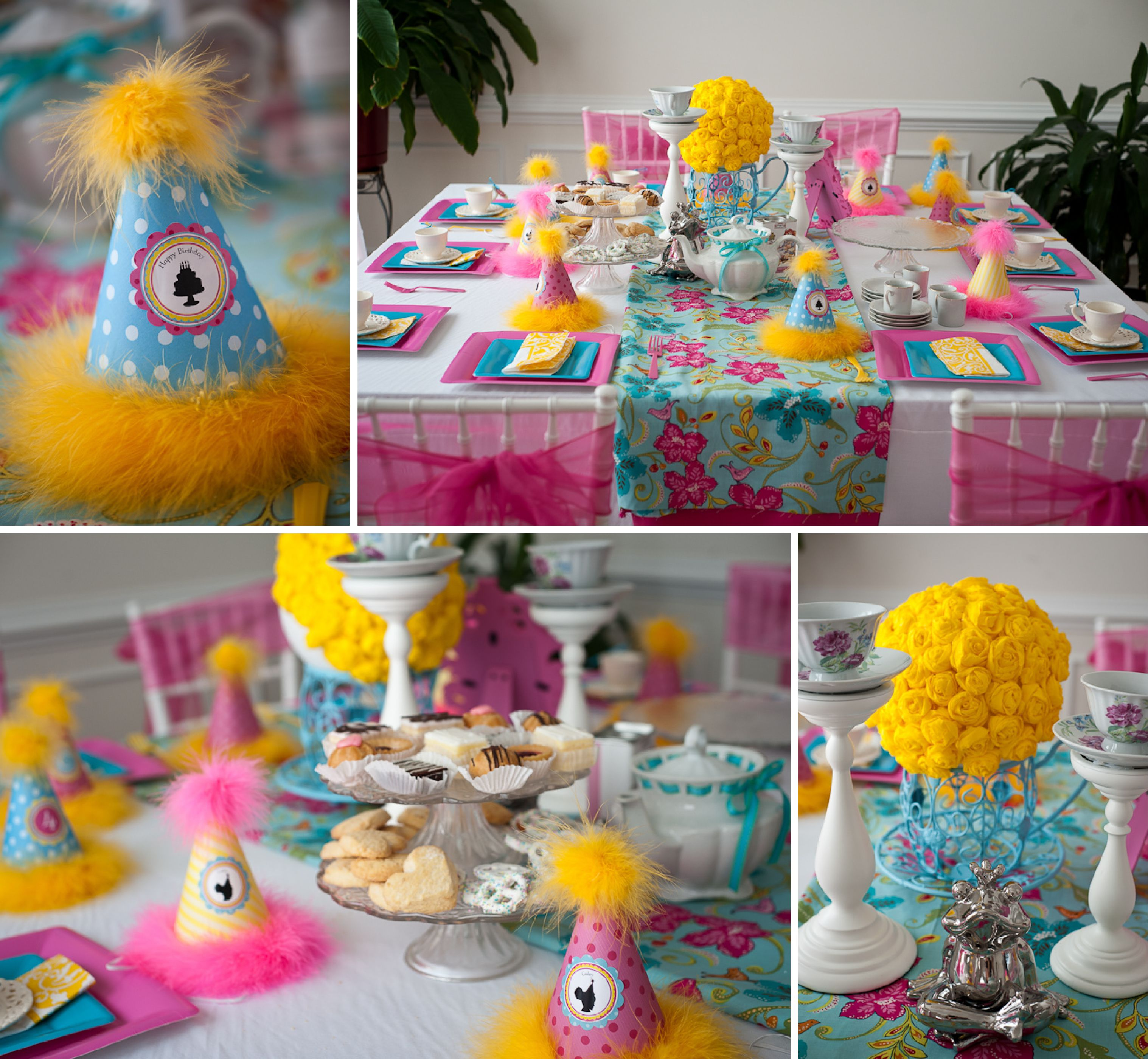 tea doll party room and table setup 2 Party ideas Pinterest