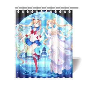 Sailor Moon Manga Series Bathroom Waterproof Shower Curtain Is Waterproof Polyester Fabric Shower Curtain Images Imprinted Using Hea Curtains Fabric Shower Curtains Sailor Moon