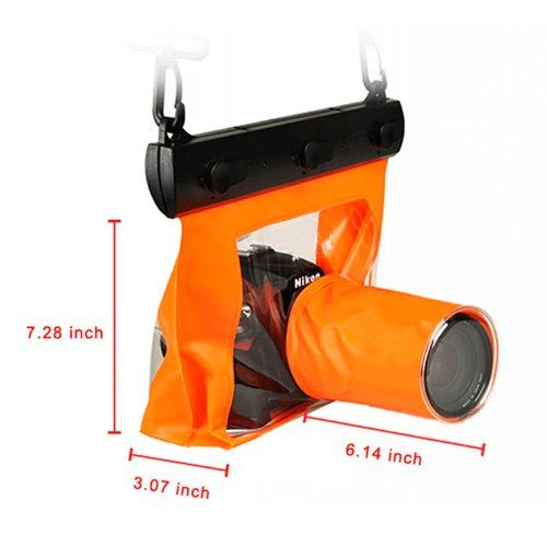 Goliton Waterproof DSLR Camera Accessories Bag Pack Case for Canon 5d Nikon D7000  Orange *** Want to know more, click on the image.