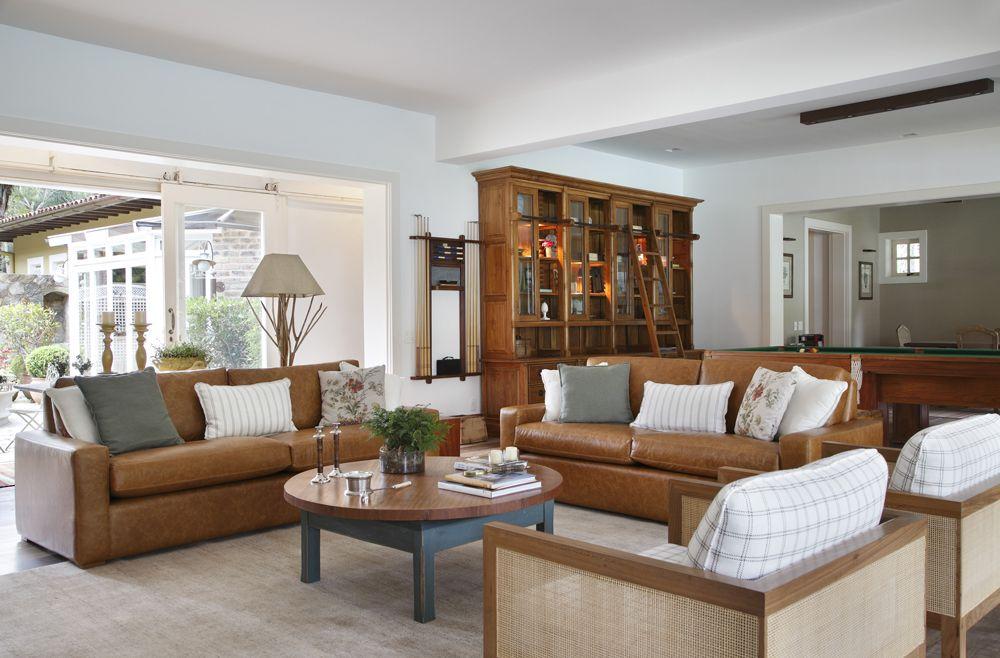 Decoracao De Sala Marrom ~ ideia de decoracao para sofá marrom de couro  Pesquisa Google