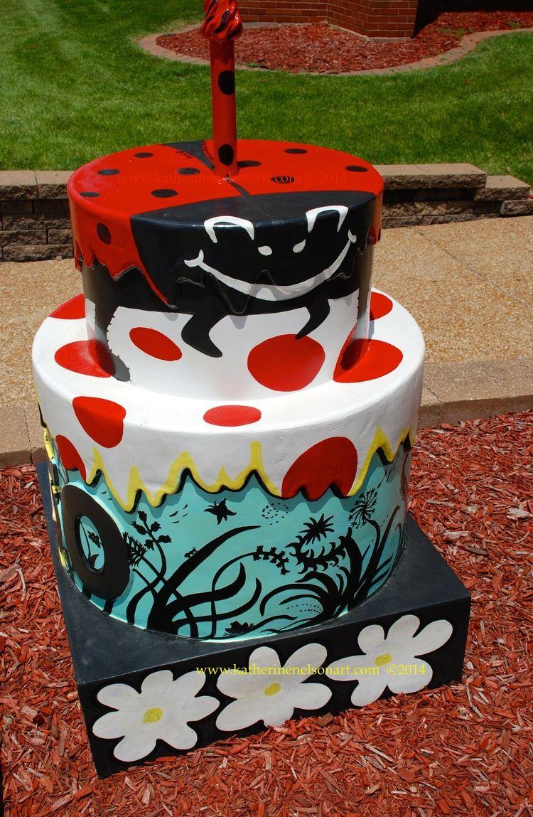 "Artist Katherine Nelson's ""Ladybug Cake"" © 2014 designed for the STL250 Celebration in STL 2014. All rights reserved."