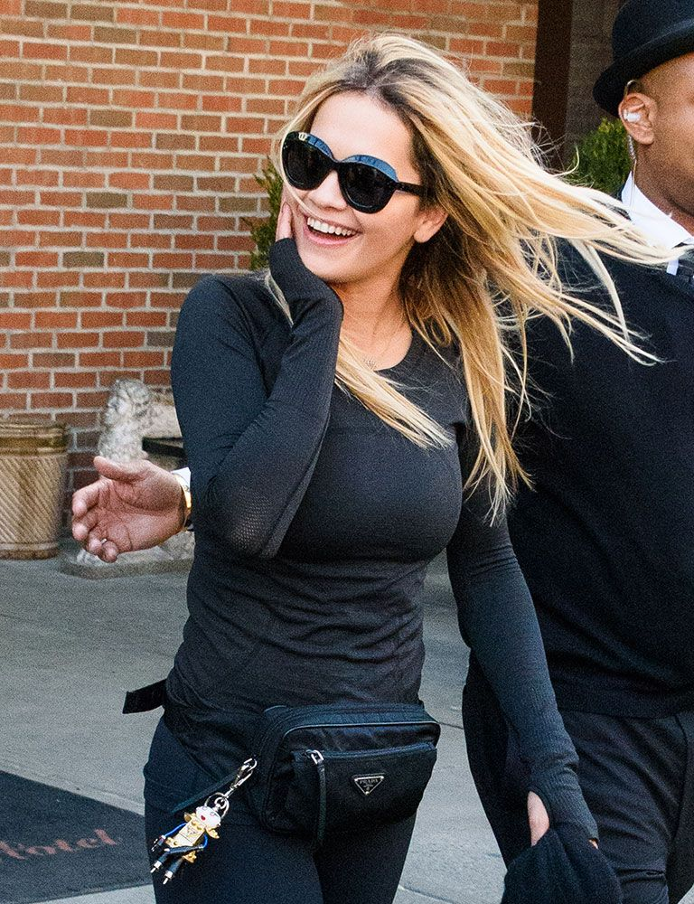 Prada And Celine Are The Obvious Celebrity Bag Faves This Week Purseblog Rita Ora Style Celebrity Design Celebrity Bags