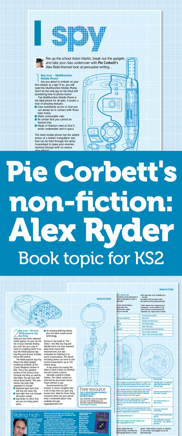 Workbooks the twits worksheets ks2 : Pie Corbett's Non-Fiction – Persuasive Writing With The Alex Ryder ...