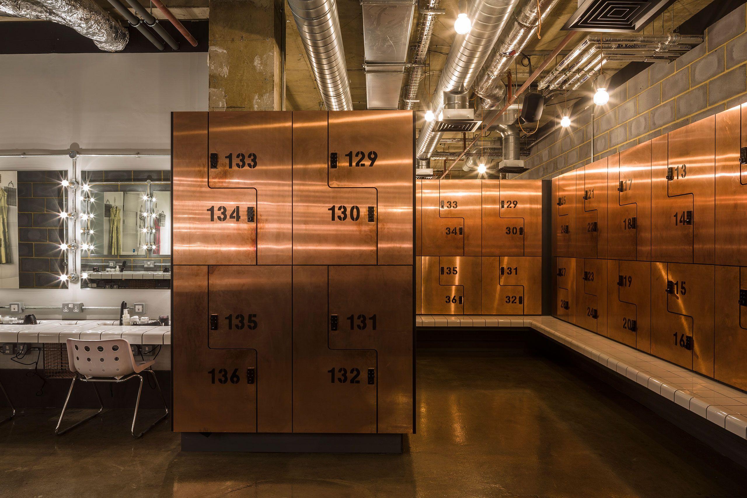Rebel boutique gym in london by studio c lockers