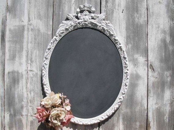 "ANTIQUE Chalkboard ""OUTDOOR WEDDING"" Spring Summer"