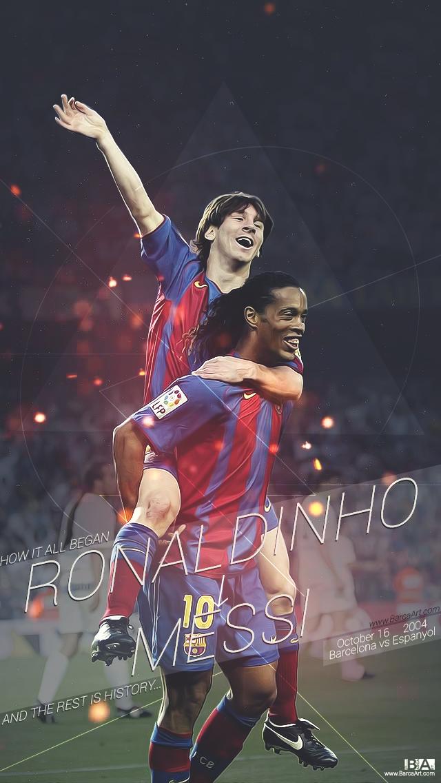 Bar a art on fcbarcelona arte de f tbol futbol messi futbol wallpapers - Ronaldinho wallpaper ...