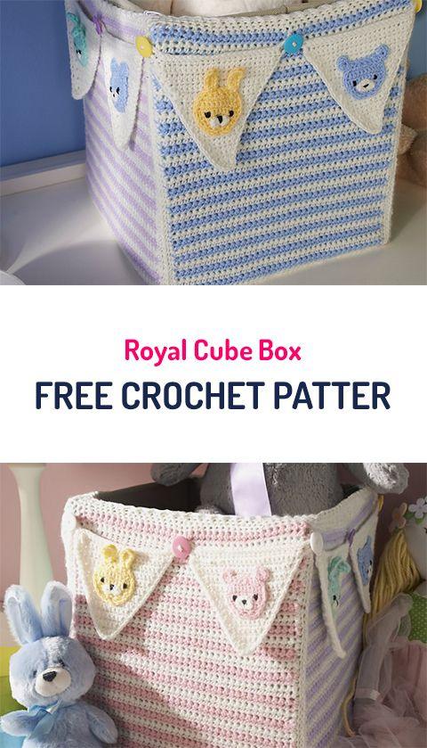 Royal Cube Box Free Crochet Pattern #crochet #crocheting #crocheted ...
