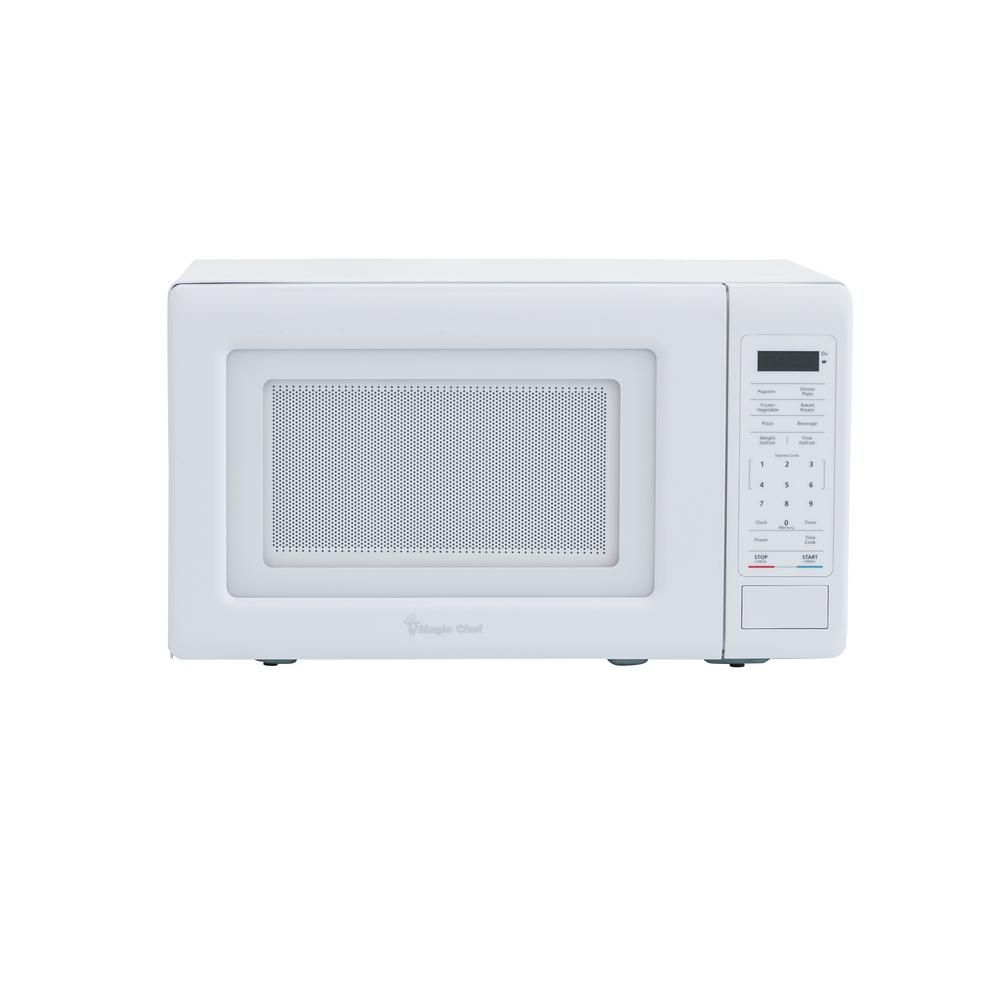 Microwave Oven Magic Cleaner: Magic Chef 0.7 Cu. Ft. Countertop Microwave In White