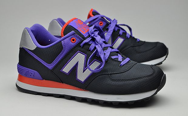new balance 574 purple orange