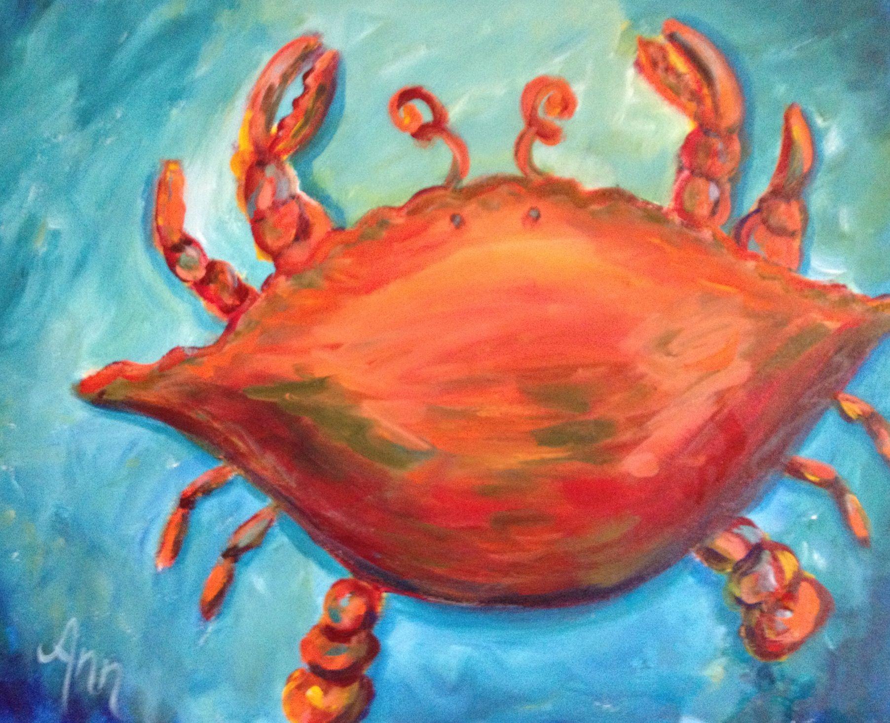Colorful #crab #art by #Ann Lutz. SOLD. | Ann\'s Art & creativity ...