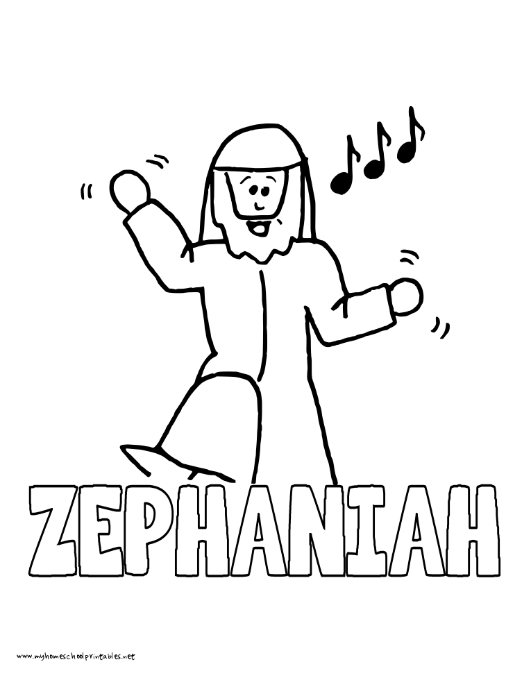 Quick Print World History Coloring Pages Printables Zephaniah