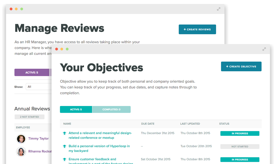 Reviews and Objectives Hr management, Onboarding