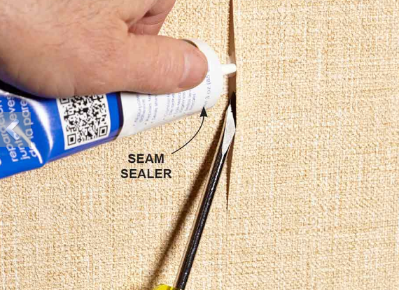 Fix a Wallpaper Seam If you have a seam that's coming