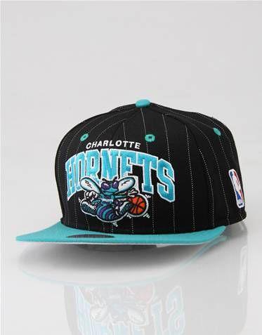 8295b5851a7ce6 Mitchell & Ness Charlotte Hornets Pinstripe Team Arch Snapback Cap ...