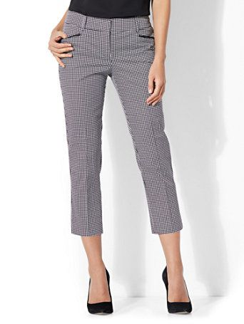 128c446d4a32 Shop 7th Avenue Pant - Crop Straight Leg - Signature - Grid Print. Find  your perfect size online at the best price at New York