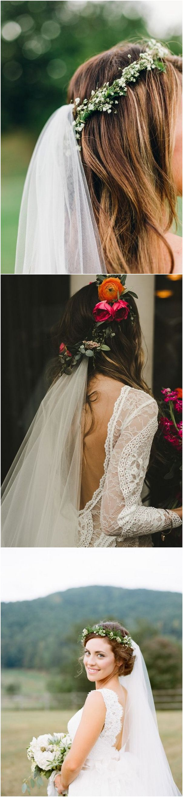 Top 10 wedding hairstyles with flower crown veil for 2018 flower top 10 wedding hairstyles with flower crown veil for 2018 izmirmasajfo