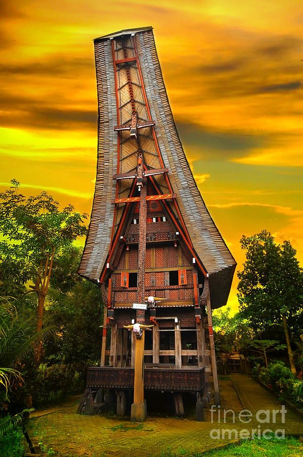 Toraja Architecture by Charuhas Images