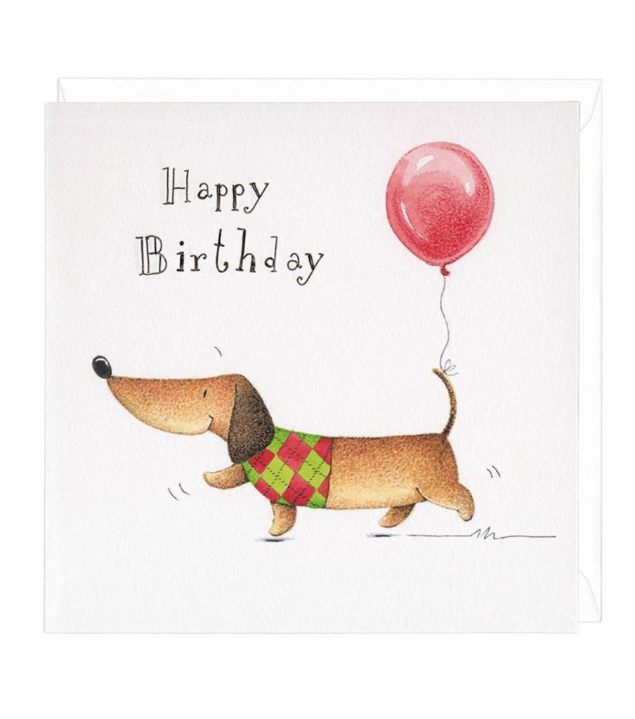 Happy Birthday Dachshund Greeting Card | Cumpleaños Feliz ...