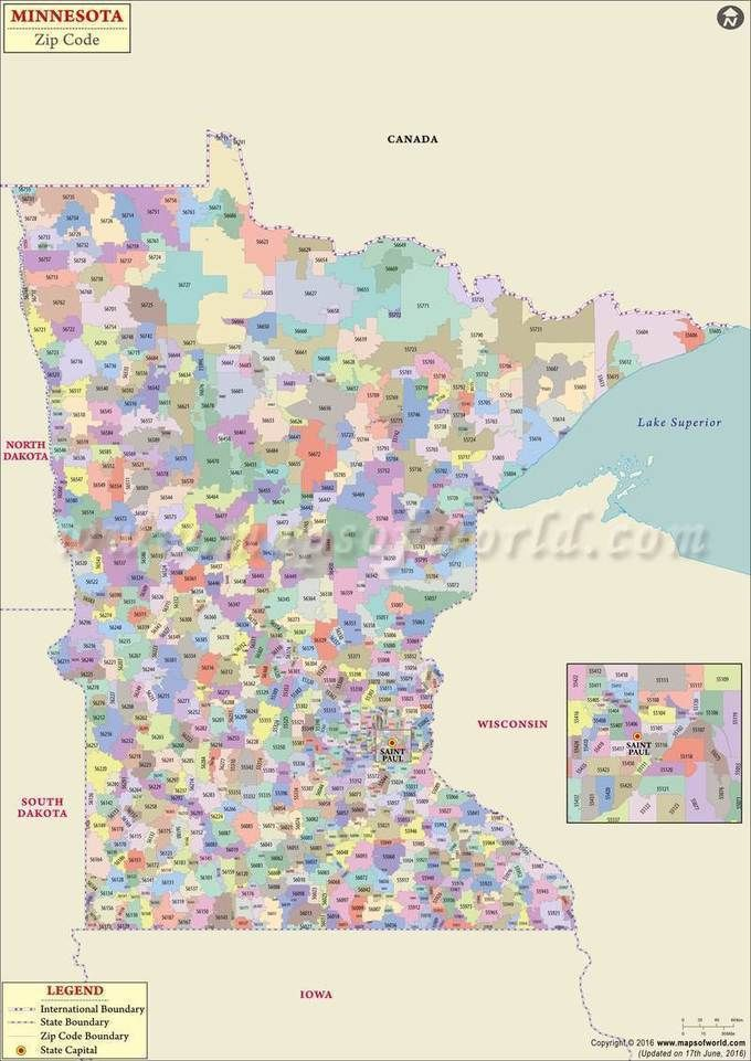 Minnesota Zip Code Map Minnesota Postal Code Zip Code Map Map