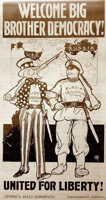 Welcome Big Brother Democracy Usa 1917 Between The February And