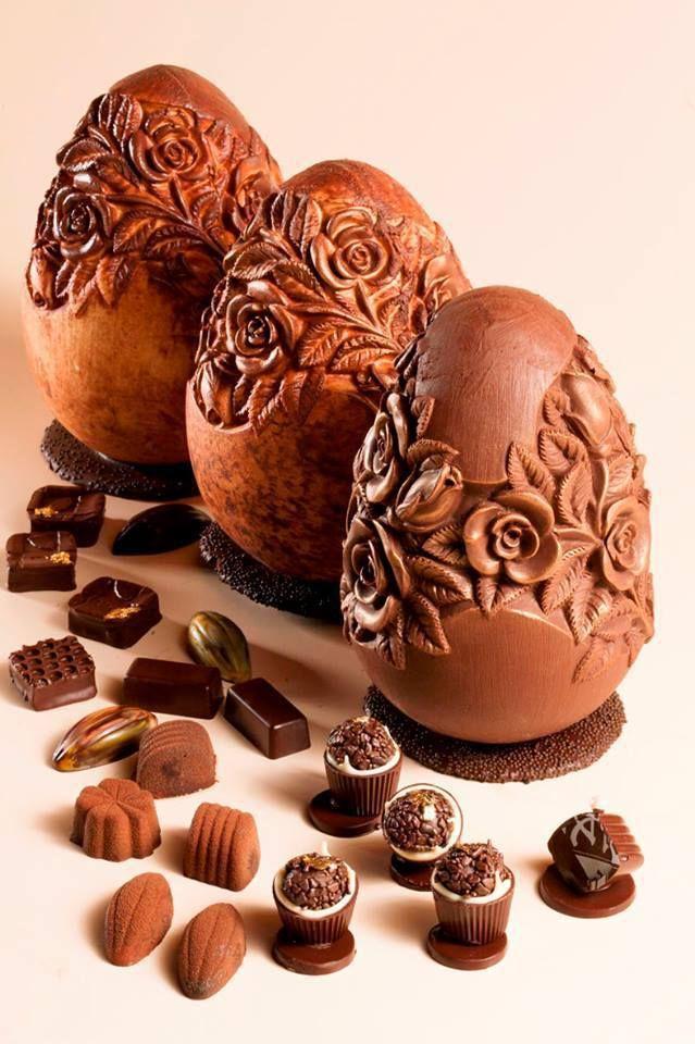Невероятни скулптури от шоколад