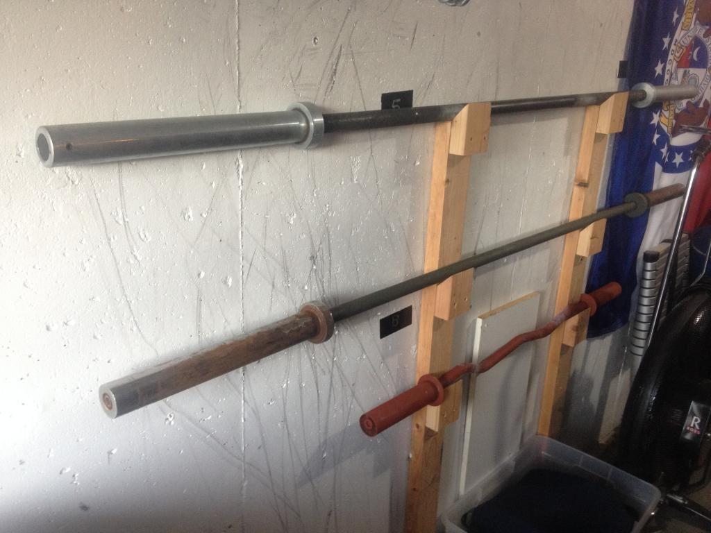 Wall Mount Barbell Rack Build It Pinterest Gym