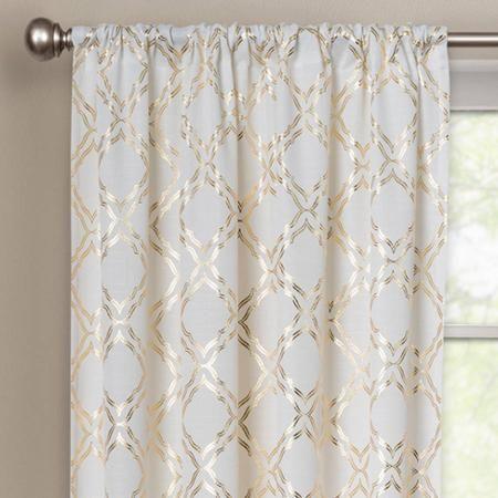 Better Homes And Gardens Metallic Trellis Gold Foil Curtain Panel    Walmart.com