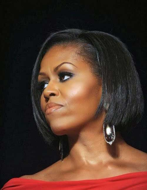 Chic Bob For Black Women Jpg 500 646 Pixels Michelle Obama Michelle Obama Quotes Michele Obama