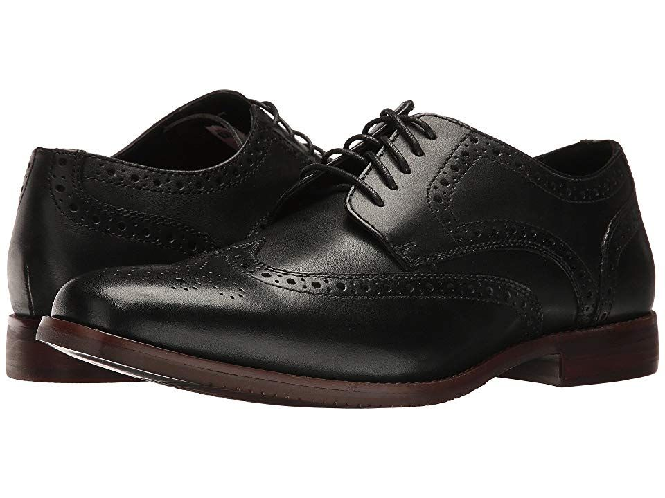 bd3543050ba8c Rockport Style Purpose Wingtip (Black Leather) Men's Lace Up Wing Tip Shoes.  Whether you're an uptown or downtown kind of guy keep your style up to date  ...