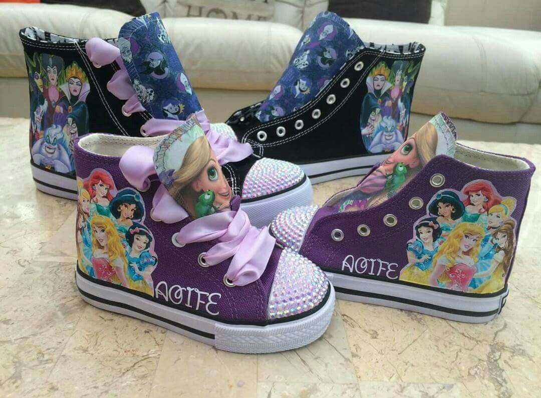 bea8f12267a0 Villans and princess high top shoes personalised trainers