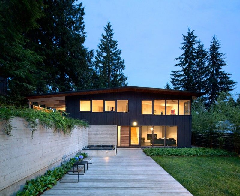 This 1950s post and beam house in Vancouver s a contemporary renovation