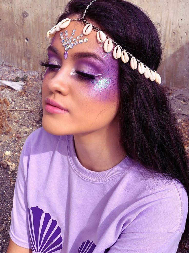 Photo of Mermaid costume glitter makeup kit mermaid makeup face glitter little mermaid …