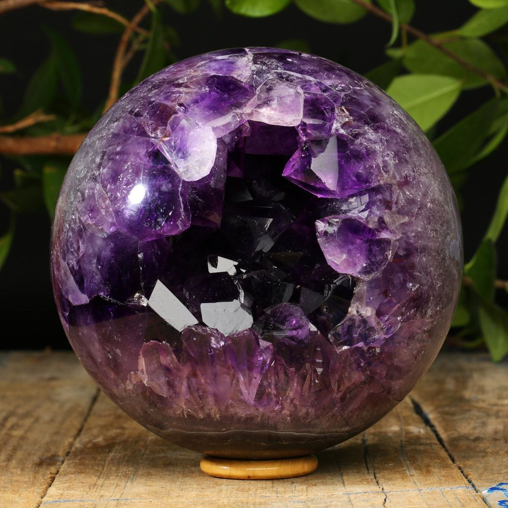 Huge Amethyst Double Geode Sphere With Gemmy Crystals By Pacificminerals On Etsy