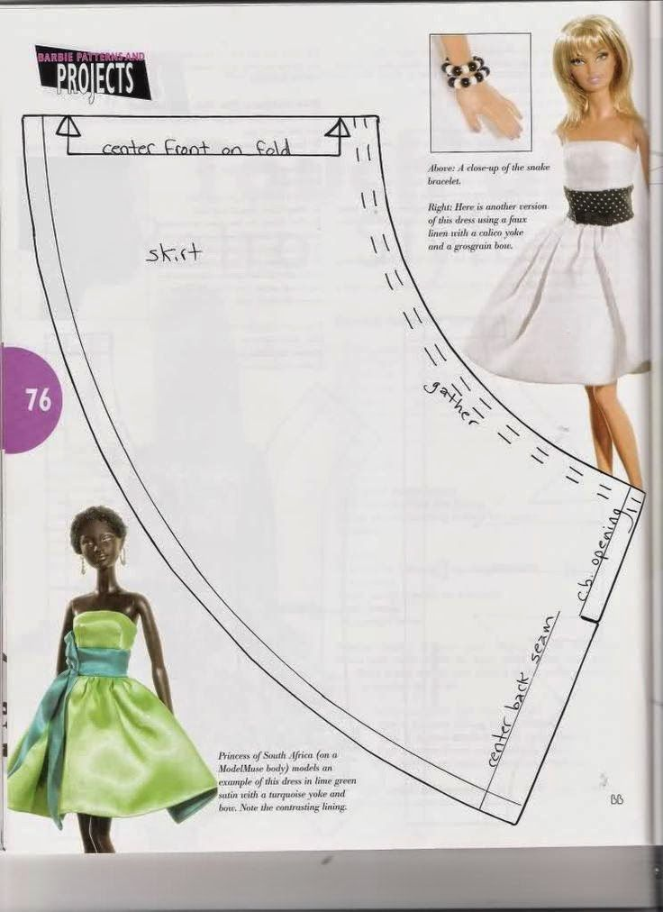 Resultado de imagem para Barbie Clothes Free Sewing Patterns Free ...