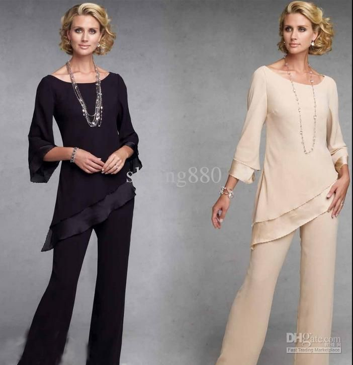 Wholesale Mother of the Bride Pants Suit Fashion with jacket ...