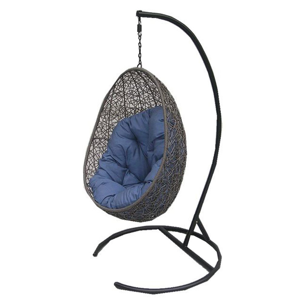 Henryka Cw4307hc Hanging Chair With Cushion And Stand Lowe S