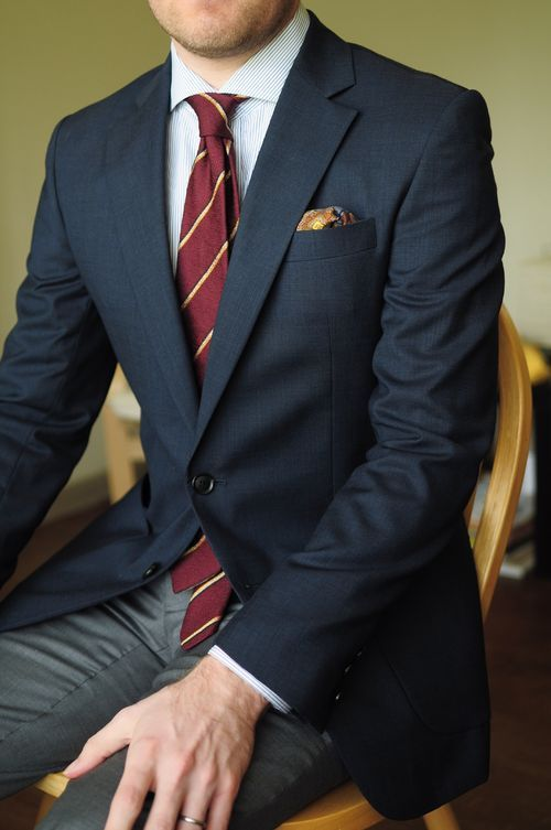 Tie color blazer navy How to