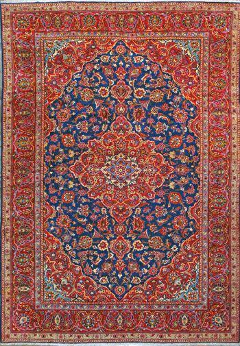 """Esfahan Persian Rug, Buy Handmade Esfahan Persian Rug 8' 7"""" x 12' 8"""", Authentic Persian Rug  ♨️💢💢More At FOSTERGINGER At Pinterest 💢💢♨️"""