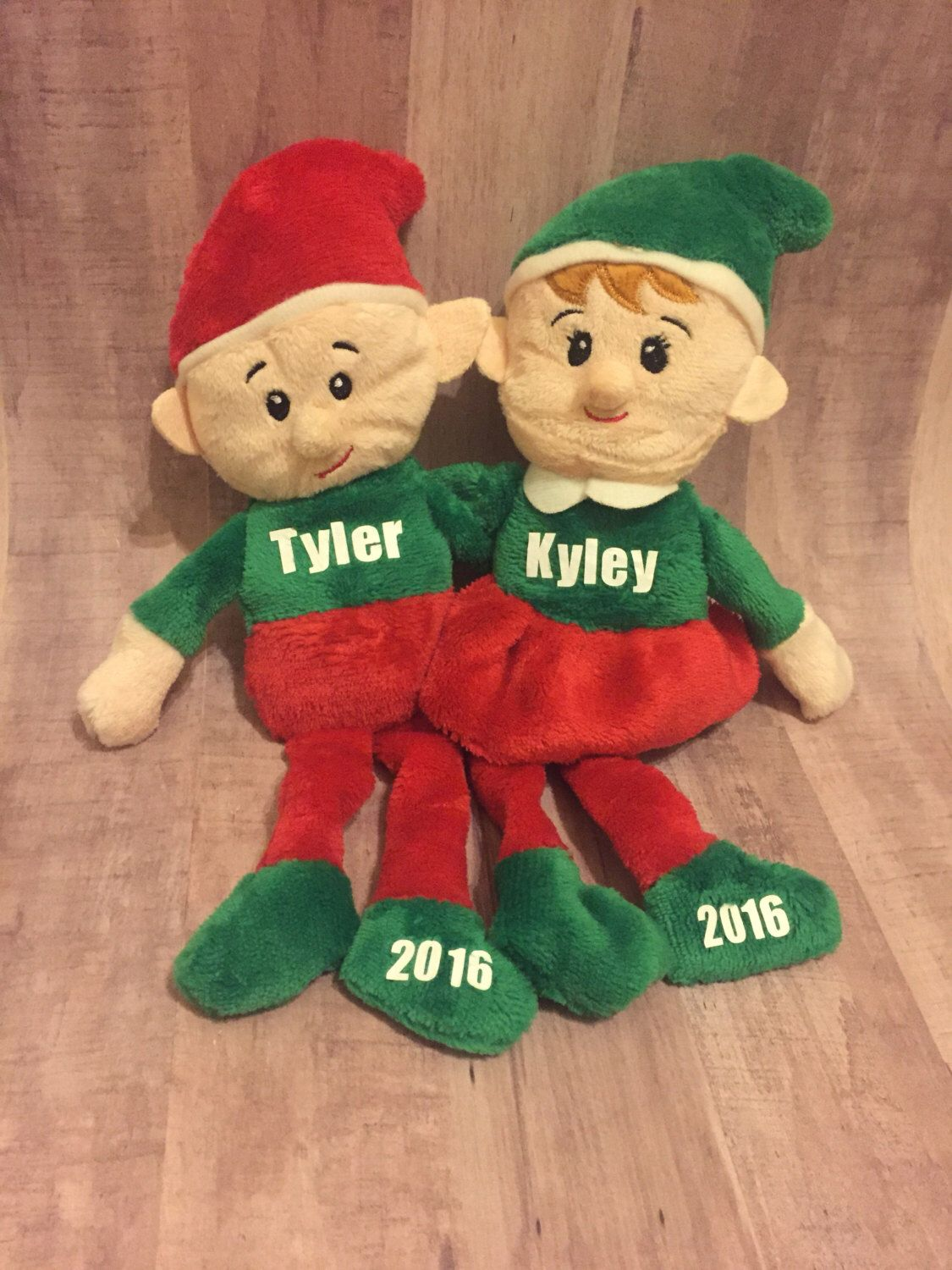 Personalized elves, custom elf plushies, personalized