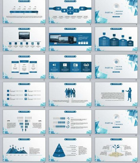 28+ Low Poly Blue Powerpoint Template
