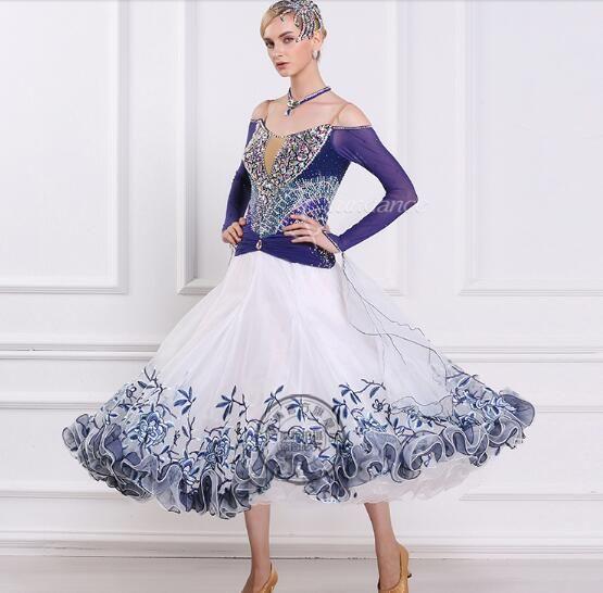 Cheap Vestito da ballo sala da ballo abiti da ballo liscio standard donne  sala da ballo abiti da ballo per le donne flower print b3521f0c47b