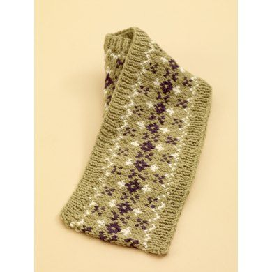 Fair Isle Scarf In Lion Brand Wool Ease 70533ad Free Scarves