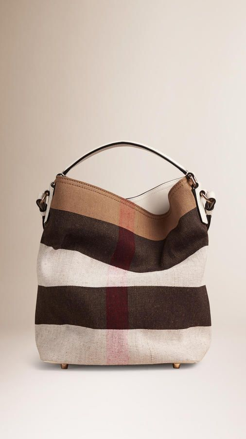 366cfea3fcc3 Burberry The Medium Ashby In Canvas Check And Leather