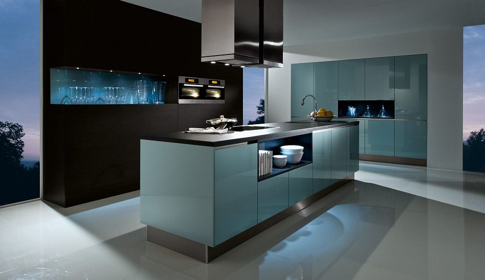 design einbauk che anatas grifflos ozeanblau hochglanz lack k chen quelle ideen rund ums. Black Bedroom Furniture Sets. Home Design Ideas