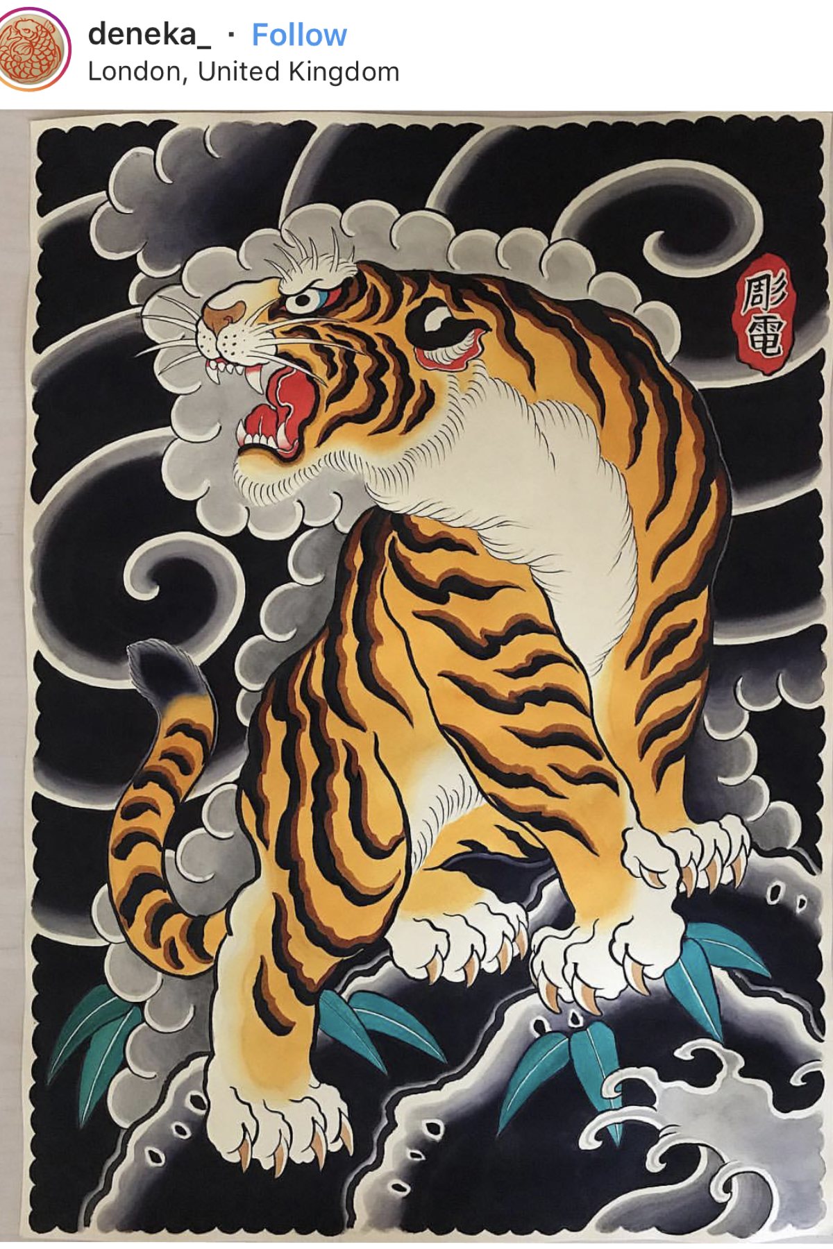 Japanese Tiger Tattoo Flash Painting Tiger Tattoo Design Japanese Tattoo Tiger Tattoo