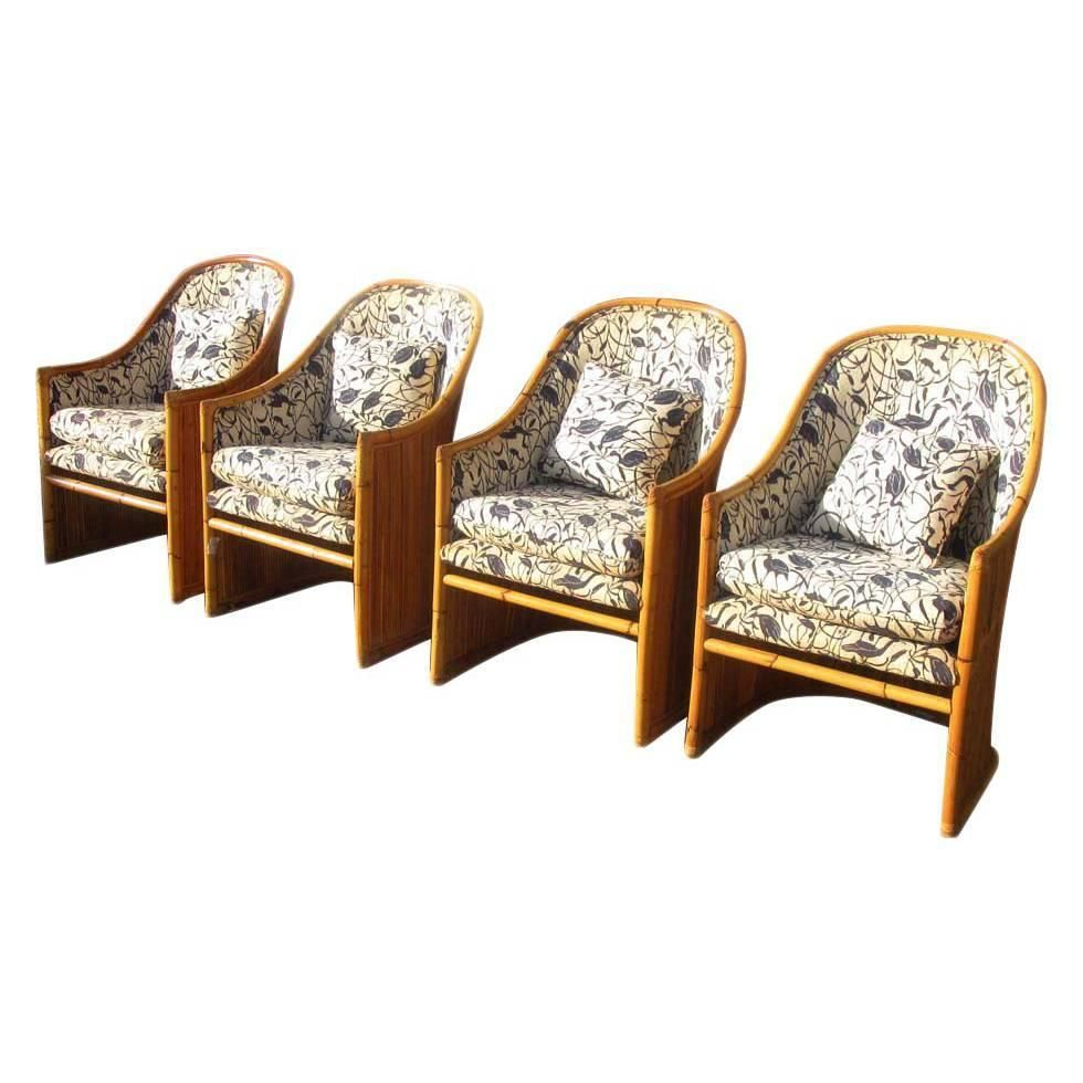 Vintage Mid Century McGuire Rattan Dining Chairs REDUCED 20%
