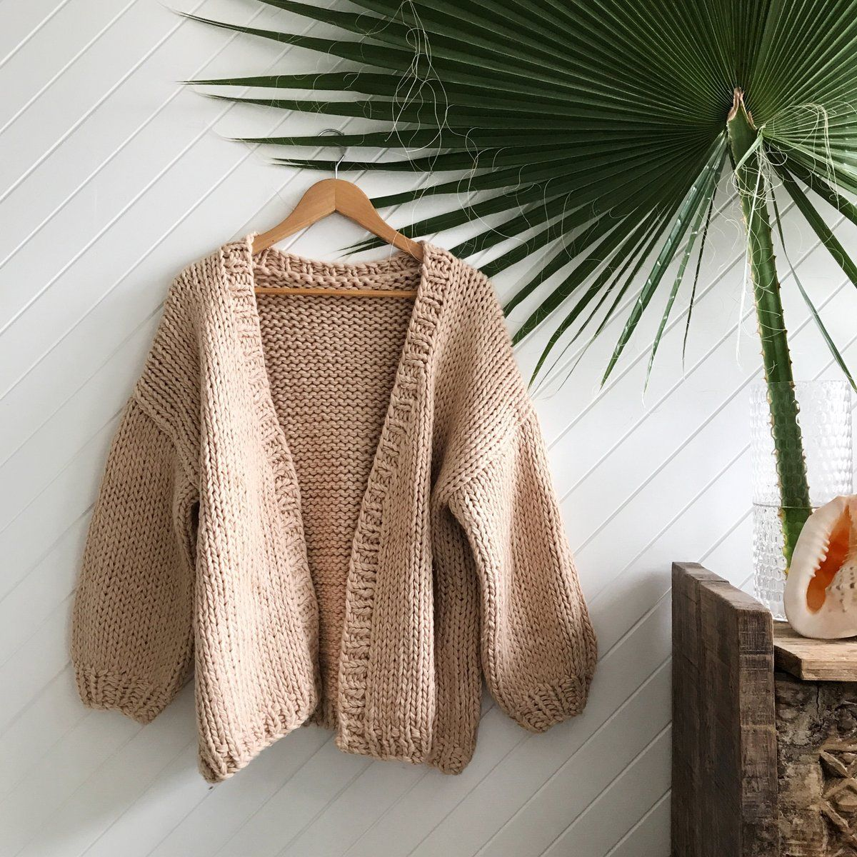 long original boho wool soft one size beige chunky Cardigan sweater overlapping frey jacket