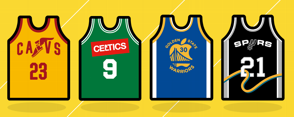 Minimalist NBA Jerseys x Forbes List Illustrated Nba